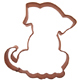 Pup Copper Cookie Cutter