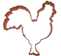 Rooster Copper Cookie Cutter