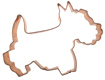 Scotty Dog Copper Cookie Cutter