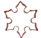 Snowflake 2 Copper Cookie Cutter