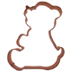 Teddy Bear 2 Copper Cookie Cutter