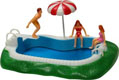 Swimming Pool Cake Topper Set