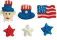 Fourth of July/ Patriotic Icing and Sugar Lay-on Decorations