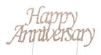 Happy Anniversary Rhinestone Cake Pick
