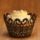 Black Filigree Cupcake Wrap