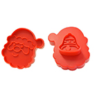 Santa Head Cookie Cutter Stamp