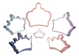 Crown Cookie Cutter Set