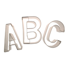 Narrow Alphabet Cookie Cutter Set