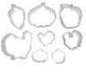 Fall/Thanksgiving Cookie Cutter Set