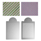 Diagonal Stripes Multi-Layer Stencil Set by James Rosselle