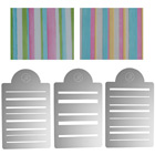 Bayadere Stripes Multi-Layer Stencil Set  by James Rosselle
