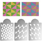 Geometric Triangles Multi-Layer Stencil Set  by James Rosselle