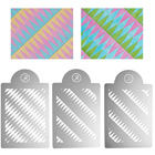 Geometric Diamonds Multi-Layer Stencil Set  by James Rosselle