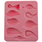 Trapunto 2 Set Silicone Mold by Colette Peters