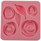 Pouf Roses and Leaves Silicone Mold by Colette Peters