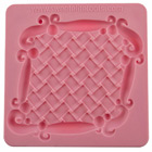 Basketweave Plaque Silicone Mold by Colette Peters