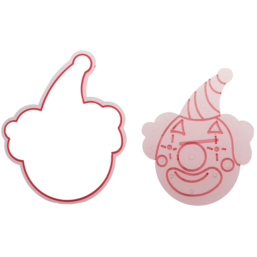 Circus Clown Cutter and Embosser Set by Cakegirls