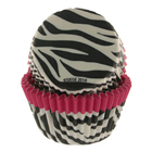 Pink Trim Zebra Standard Baking Cup