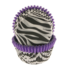 Purple Trim Zebra Standard Baking Cups