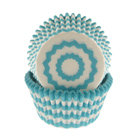 Turquoise Chevron Standard Baking Cups
