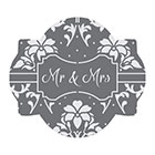 Mr. & Mrs. Cookie Stencil Set by Julia