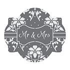 Mr. & Mrs. Cookie Stencil Set by Julia M Usher