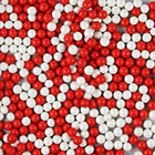 Red and White Shimmer Pearls