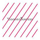 Diagonal Thin Stripe Cookie Stencil