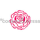 Single Rose Cookie Stencil