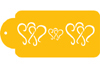 Dancing Hearts Designer Stencil