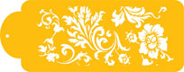 Chic Rose Designer Stencil