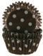 Brown With White Dots Mini Baking Cups