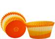 Orange Swirl Mini Baking Cups
