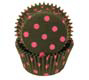 Black With Pink Dots Standard Baking Cups