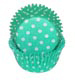 Teal Green Polka Dot Standard Baking Cups
