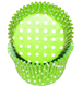 Lime Green Dot Jumbo Baking Cups