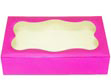 2 lb. Magenta Foil Cookie Box with Window
