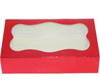 2 lb. Red Foil Cookie Box with Window
