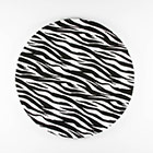 "12"" Round Zebra Print Foil Cake Drum"