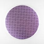 "14"" Round Lilac Foil Cake Drum"