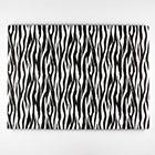 "14"" x 19"" Rectangle Zebra Print Foil Cake Drum"