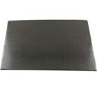 "14"" x 19"" Rectangle Black Cake Drum - ¼"" Thick"