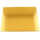 "14"" x 19"" Rectangle Gold Cake Drum - ¼"" Thick"