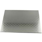 "14"" x 19"" Rectangle Silver Cake Drum - ¼"" Thick"
