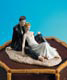 Couple on Beach Cake Topper