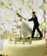 A Race to the Alter Cake Topper