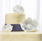 Poppy Blooms White Wedding Cake Topper