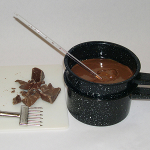 Tempering Chocolate in Double Boiler