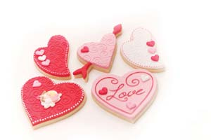 Valentine Heart Cookies with Layons