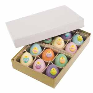 Pastel Easter Eggs with Chicks